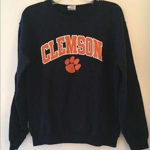 Sweaters - Navy Clemson Sweatshirt